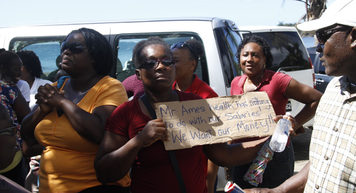 1203 Buccament Workers Protest