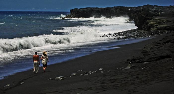 Black Sand Hawaiian Beaches