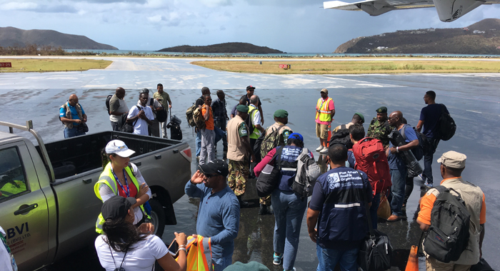 The Cdema Team Arrive In Tortola On Sunday Cmc Photo