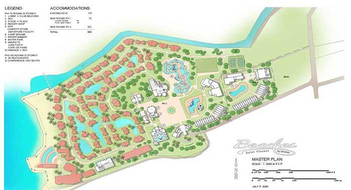 Sandals Beaches Svg Master Plan