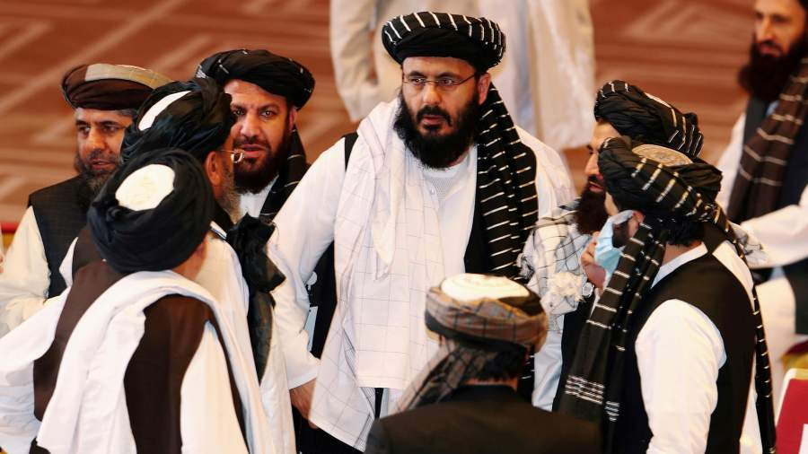 During negotiations between the Afghan government and representatives of the Taliban