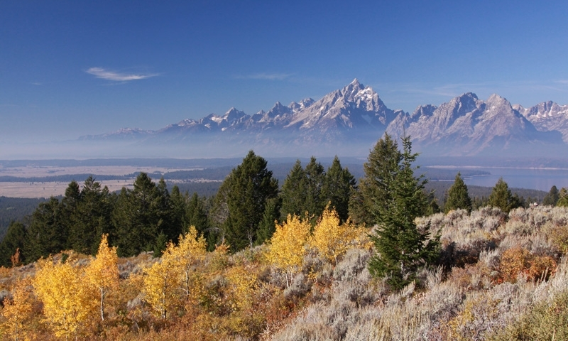Winter Grand Tetons Wyoming