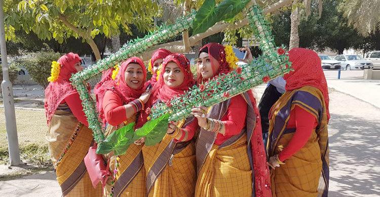 কুয়েতে প্রবাসী বাংলাদেশিদের বসন্ত বরণ