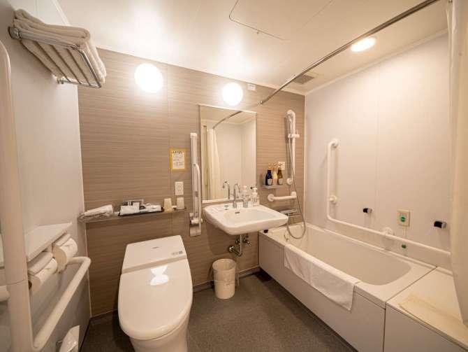 【ハトヤ瑞鳳閣】ユニバーサルツイン(23.5平米)バスルーム