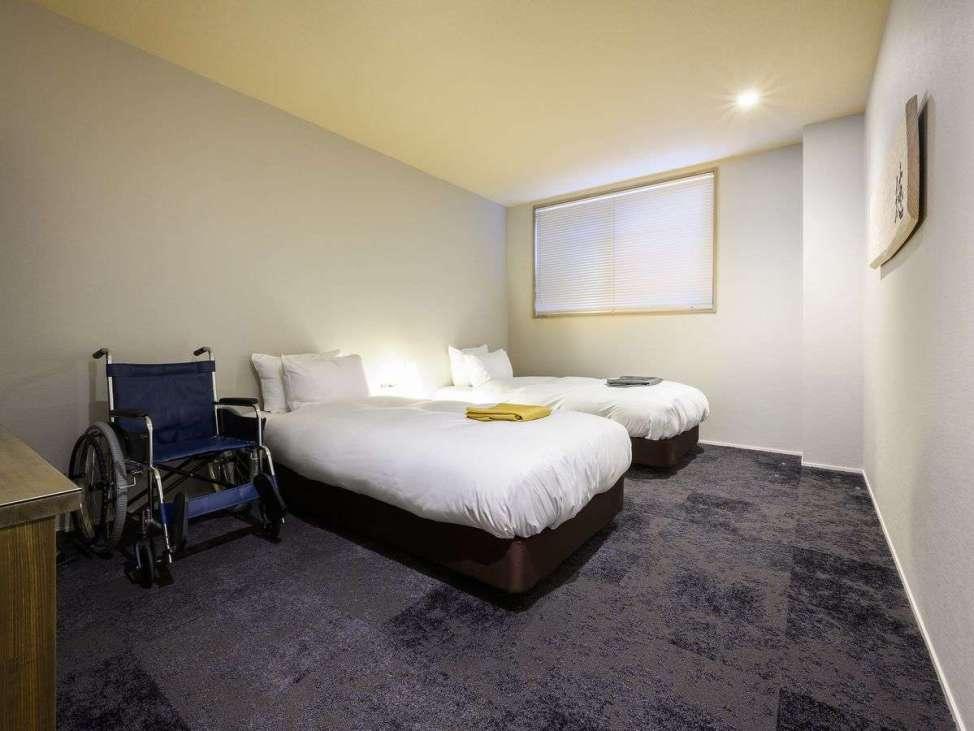 ホテルウッド高山のバリアフリーツインルーム