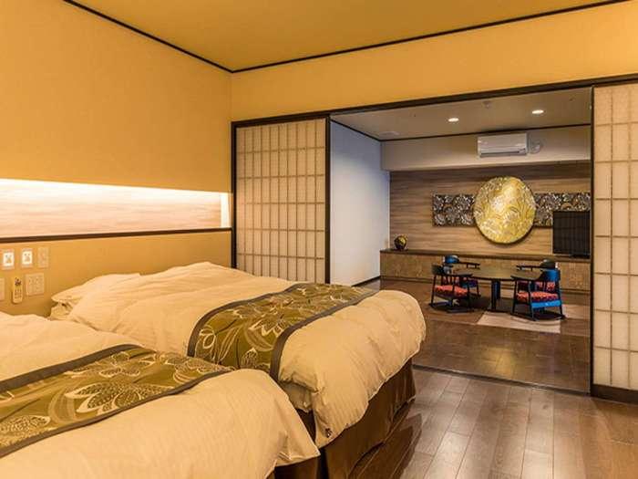 【瑞の里〇久旅館】半露天風呂付き和洋室(バリアフリー)
