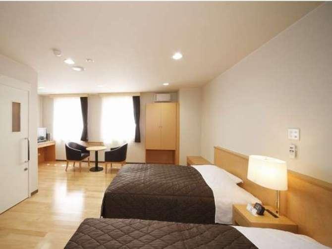 那須塩原【ビジネスホテル アジサイ】ユニバーサルルーム(洋室ツイン・23.8平米)