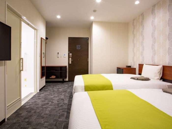 ホテル呉竹荘高山駅前のユニバーサルツイン