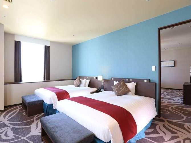 【クインテッサホテル大阪ベイ】コーナースイートツイン(2名・80平米)ベッドルーム