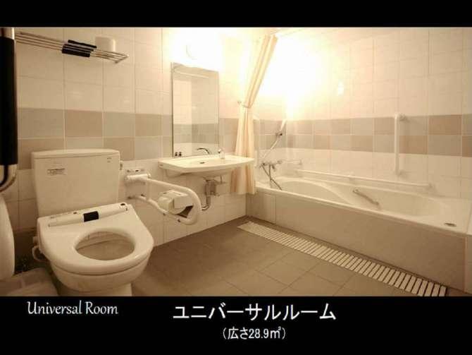 ドーミーインプレミアム博多キャナルシティ前のユニバーサルルームのバスルーム