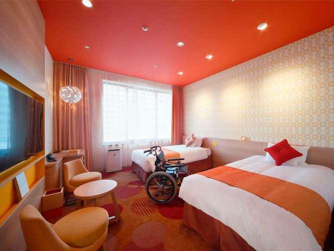 【ホテル ユニバーサル ポート ヴィータ】ヴィータバリアフリールーム(3名可・33平米)