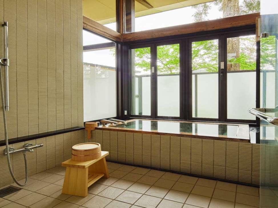 【レジーナリゾート箱根雲外荘】デラックスツインH(バリアフリー対応)のバスルーム