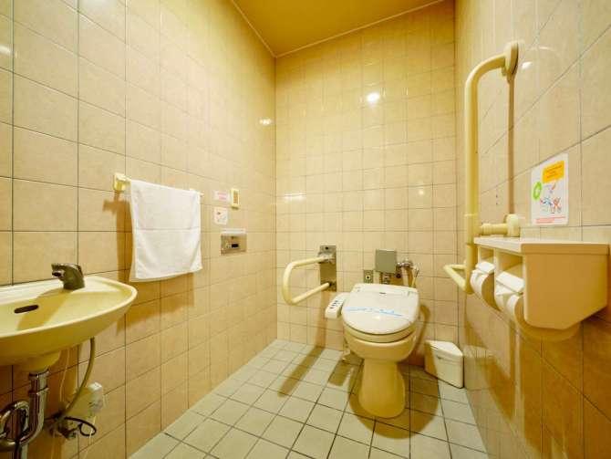 やわらぎの郷やどや バリアフリー対応の和洋室のトイレ