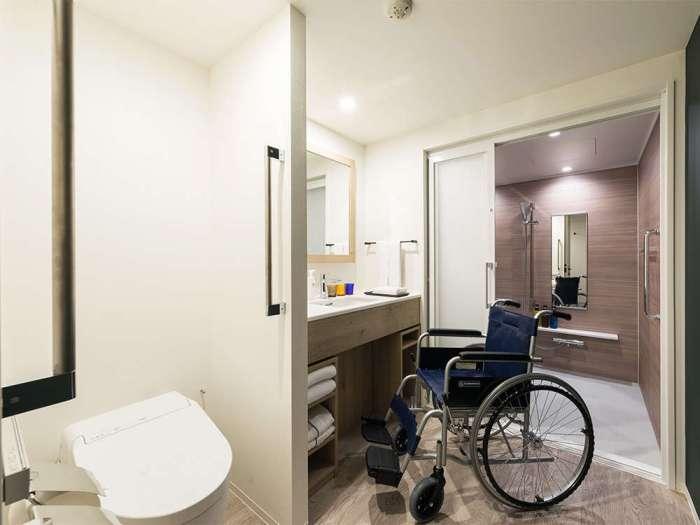 ホテルメッツ東京ベイ新木場のプレミアムデラックスツイン(ユニバーサル対応)のバスルーム