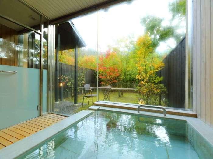 由布院ユウベルホテル特別洋室 116号室の客室温泉風呂
