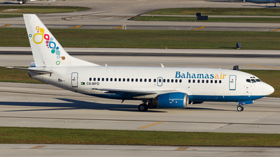 C6 BFD   Boeing 737 5H6   Bahamasair   Flightradar24 Marcel Hohl   Jetphotos Aircraft photo