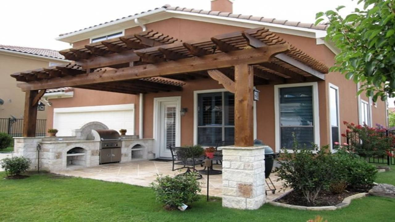 attached covered patio designs home