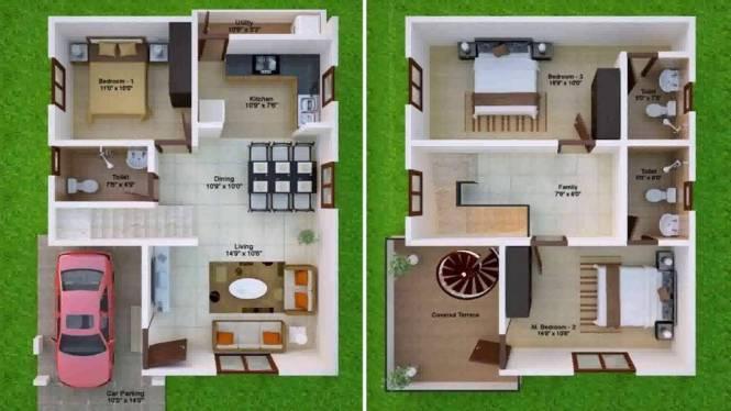 Duplex House Plans India You