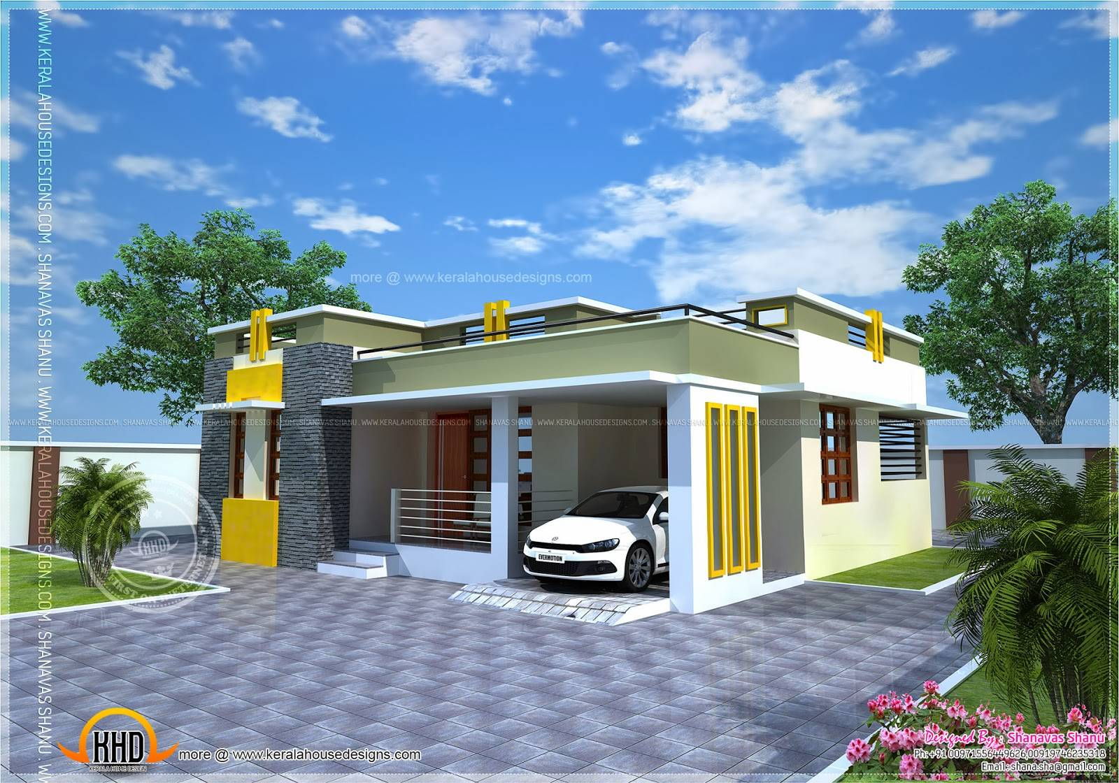 House Plan Small Modern Villa Indian Plans House Plans 3729
