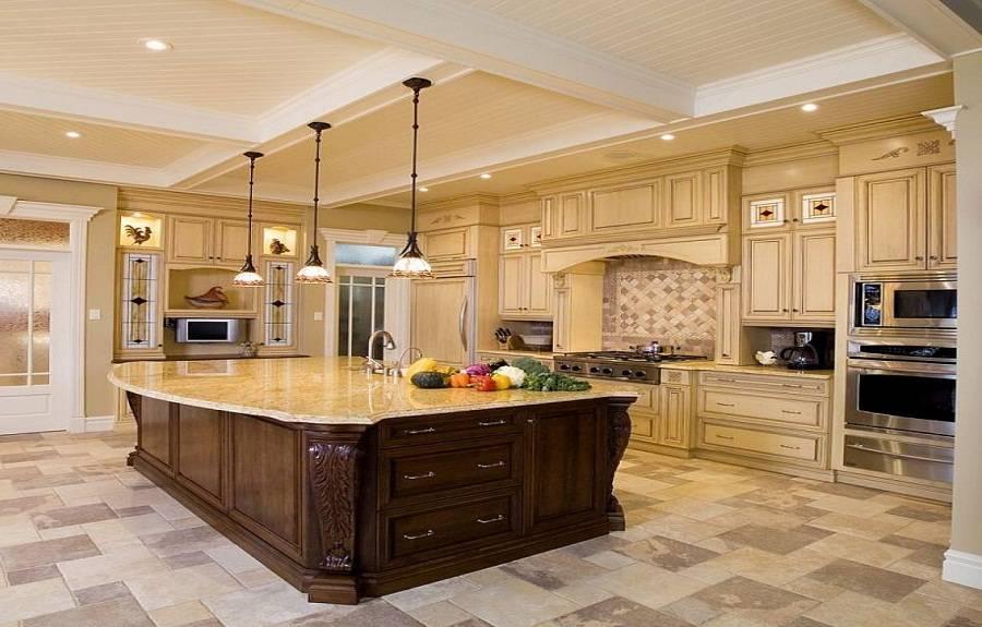 Large Kitchen Luxury Design Ideas - House Plans | #65594 on Luxury Farmhouse Kitchen  id=75254