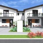 Modern Small Duplex House Design Bedroom House Plans 133784