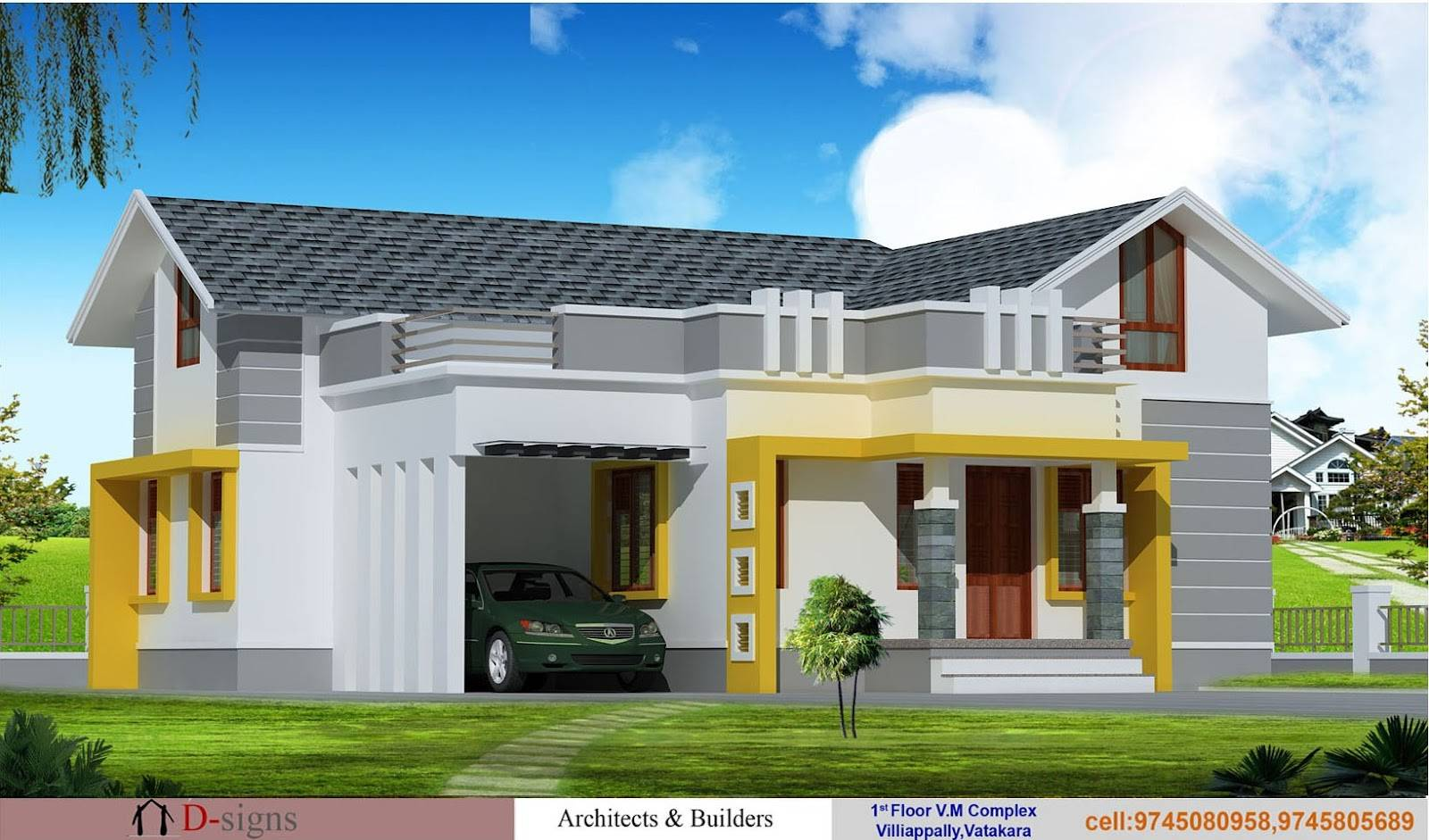 kerala style contemporary villa elevation and plan at 2035 sq ft kerala style contemporary villa elevation and plan at 2035 sq ft kerala style contemporary villa