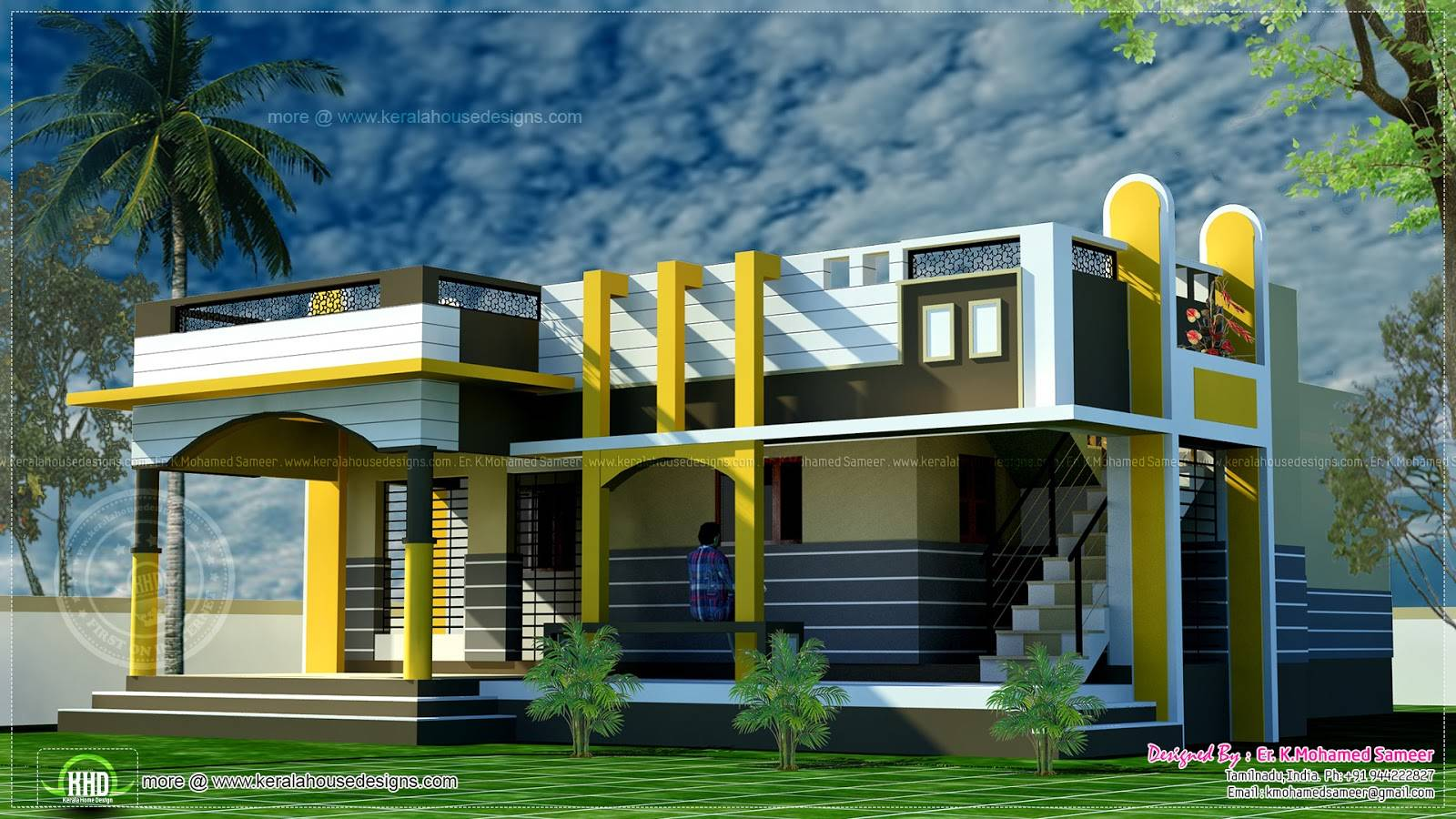 Small House Design Contemporary Style Indian Plans House Plans 96872