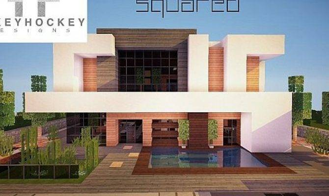 Squared Modern Home Minecraft House Design - House Plans ...