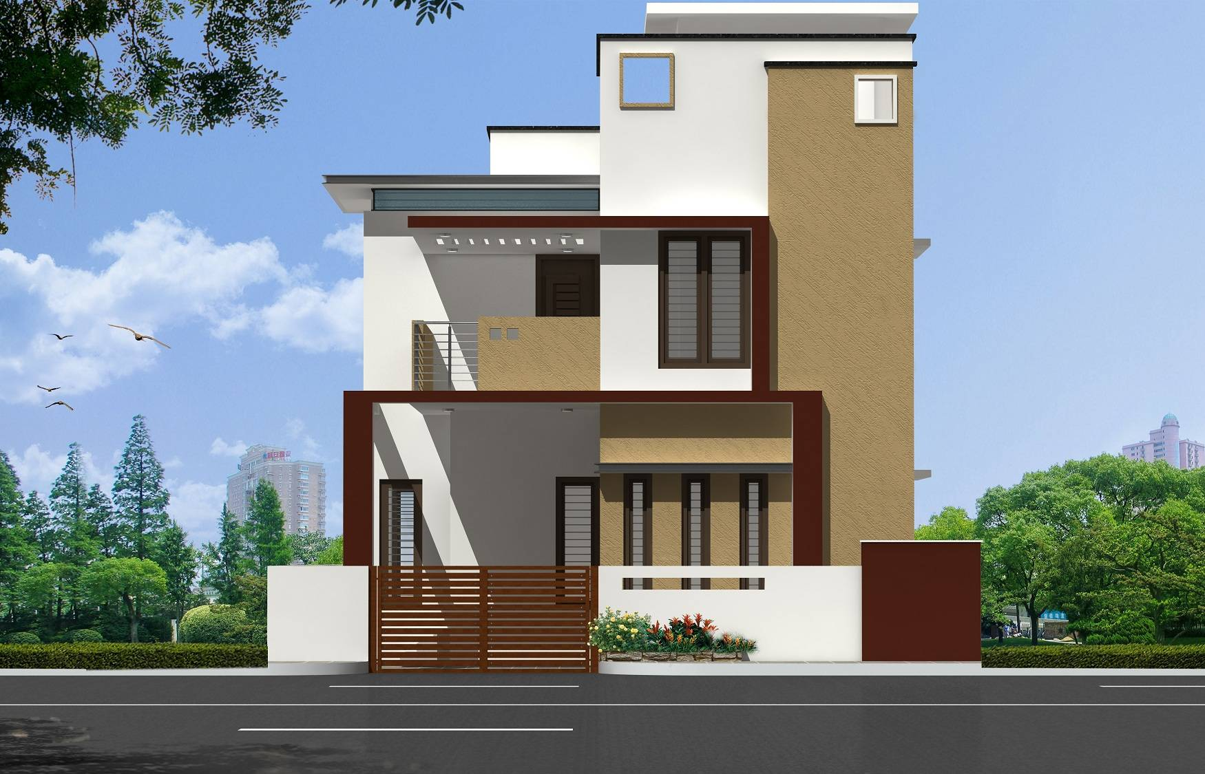 West Facing House Elevation Designs House Plans 88604