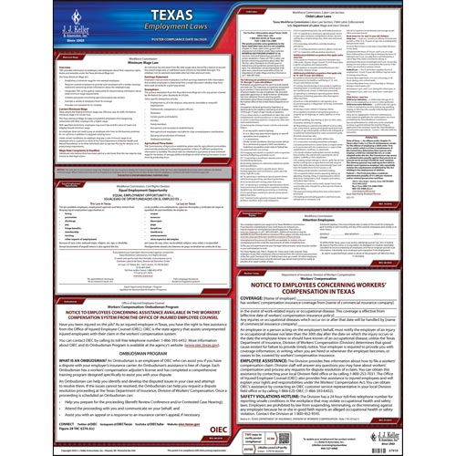 2021 texas federal labor law posters