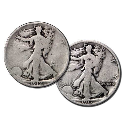 Walking 1 Liberty Silver 10 Bullion