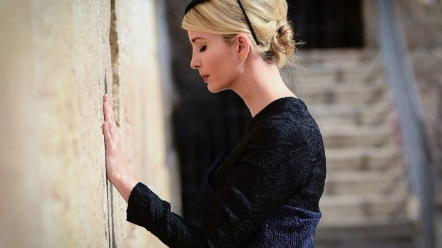 Ivanka Trump, the daughter of U.S. President Donald Trump, at the Western Wall in Jerusalem on May 22, 2017. Photo by Mendy Hechtman/Flash90.