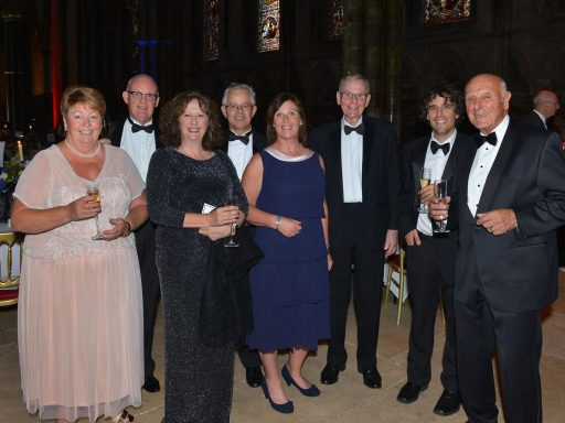 MD Jane Smith, along with Terry Coffey, business owner and others from the sponsored table