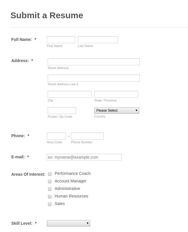 Free Human Resources Form Templates | JotForm