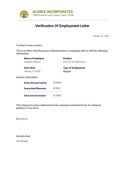 Job Confirmation Letter Pdf Templates Jotform