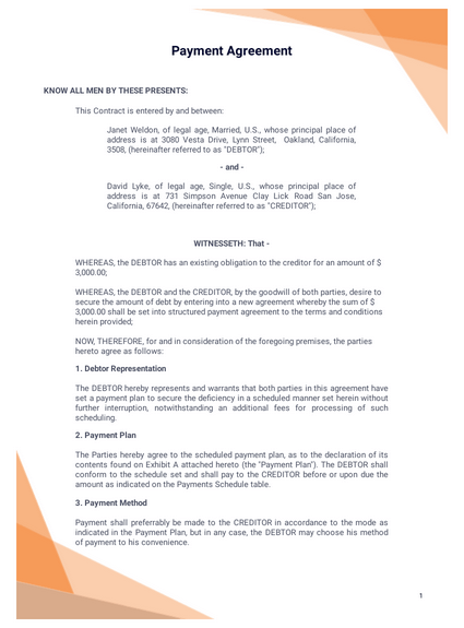 Family law compliant, fixed fee certification. Payment Agreement Template Pdf Templates Jotform