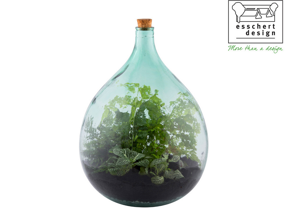 Esschert Design Plant Terrarium Fles 35 Liter Set