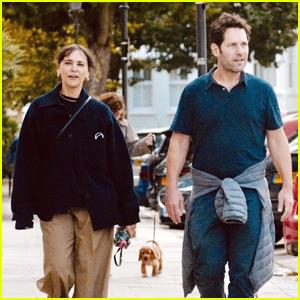 Rashida Jones & Paul Rudd Go for a Stroll Together in London
