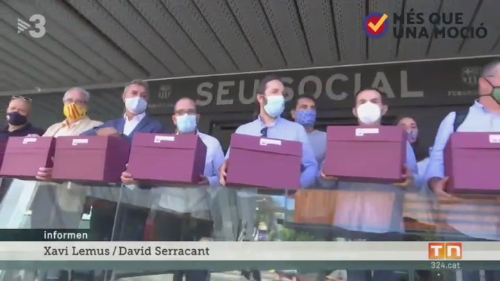 Los impulsores de la moción de censura recogen las papeletas en las oficinas del Barça