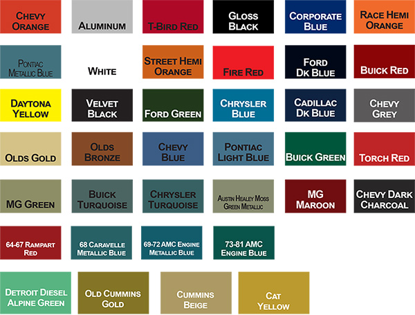 Dupli Color Chart Metallic