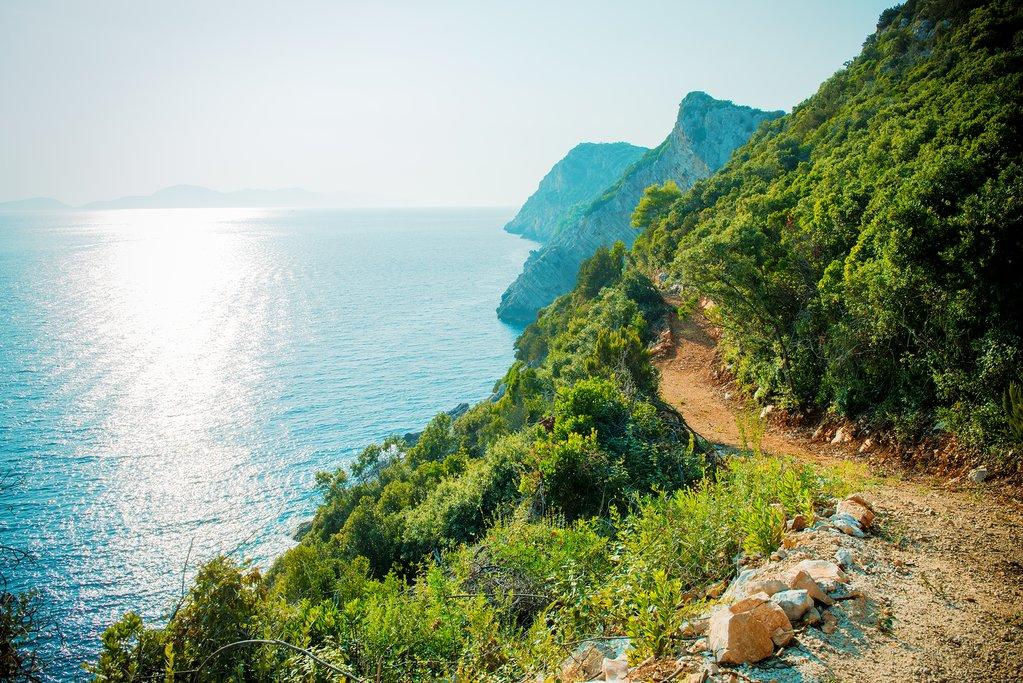 Croatia - Elafiti - Sipan - A footpath along the coast on Šipan