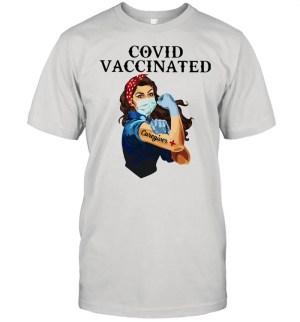 Covid Vaccincated Caregiver Plus Strong Girl shirt Classic Men's T-shirt