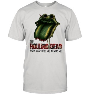 Lips the Rolling Dead rock and roll will never die shirt Classic Men's T-shirt