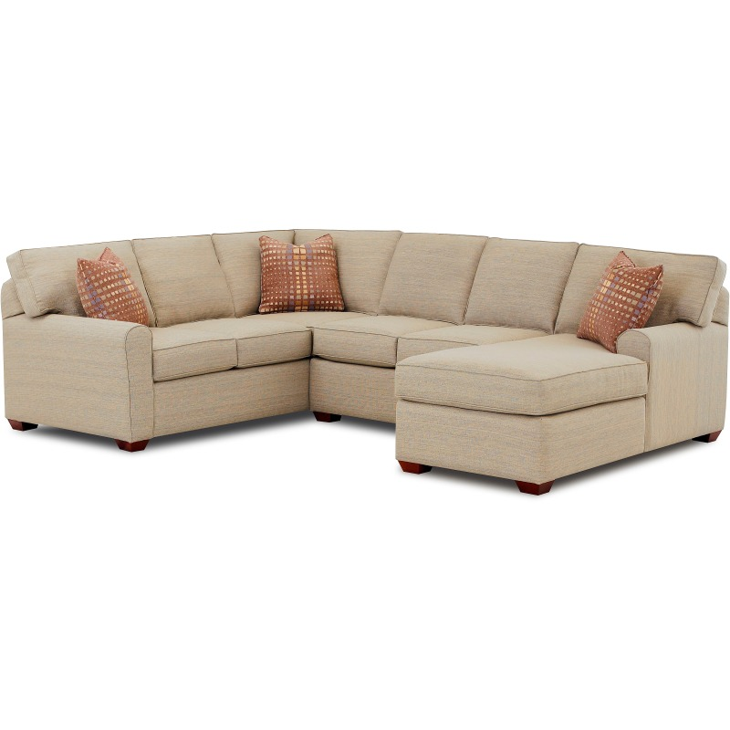 Hybrid 3 PC Sectional by Klaussner - K54400AS+L+R   Riley ... on Riley 3 Piece Sectional Charleston id=50208
