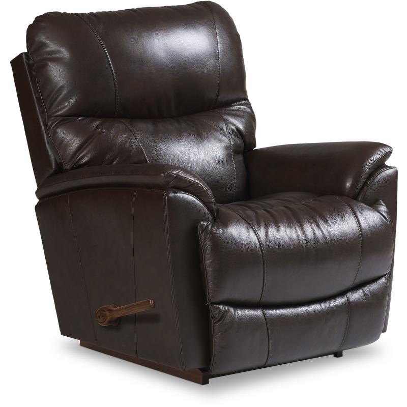 la z boy leather rocking recliner