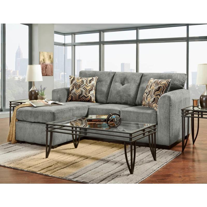sofa chaise kelly grey