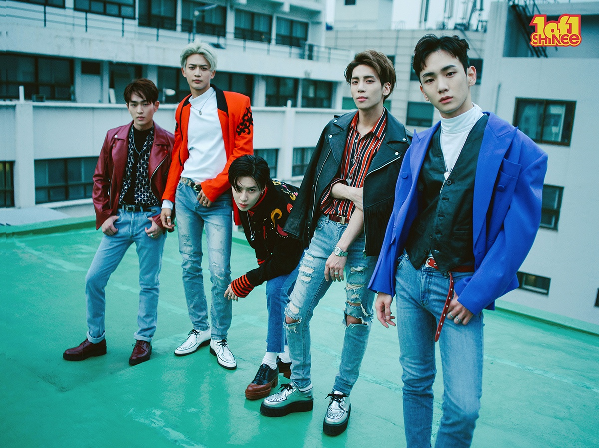 "SHINee group photo for album ""1 of 1"" / Image Source: SM Entertainment"