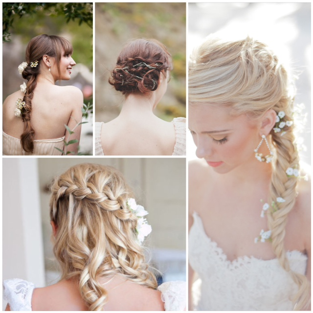 the beauty of a braided hairstyle is that the hair is kept out of your face pretty in pictures perfect for dancing plus the flowers add an extra