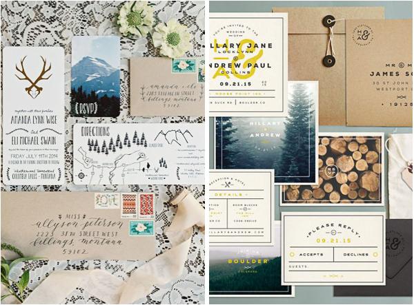 Lake Tahoe Mountain Inspired Wedding Invitations