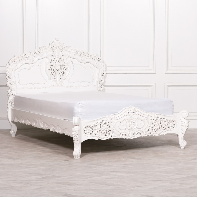 Turn them right side out. Rococo Hand Carved French White Double 4ft6 Bed Furniture La Maison Chic Luxury Interiors